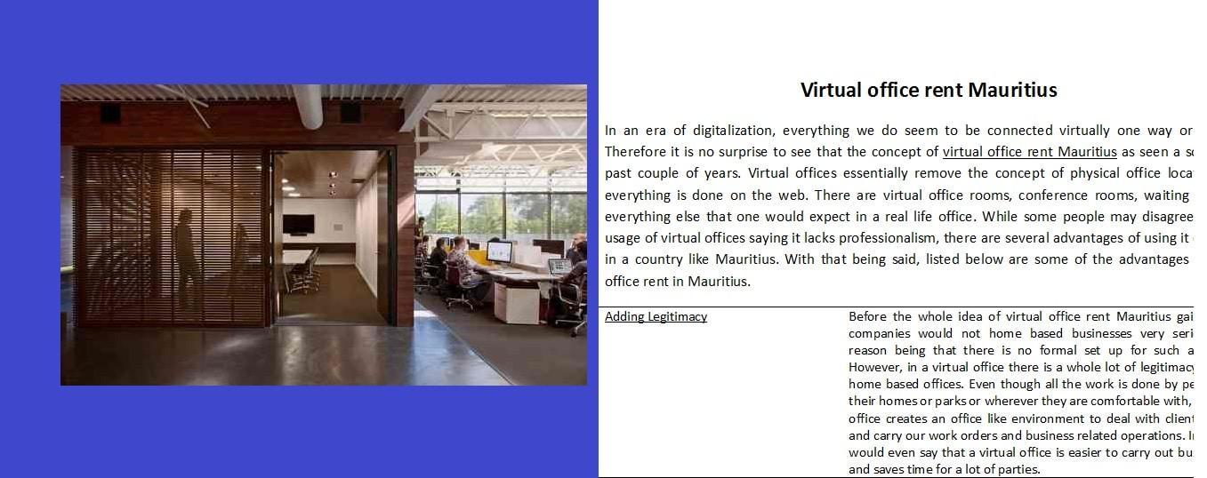 Virtual Office Rent Mauritius