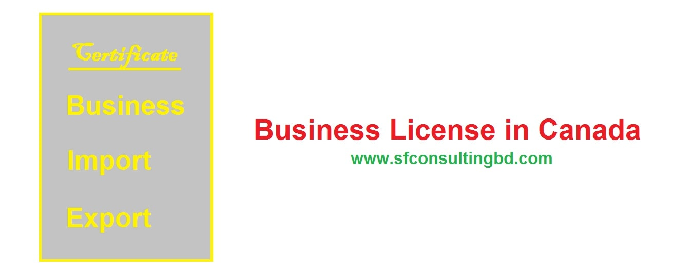 Business license in Canada