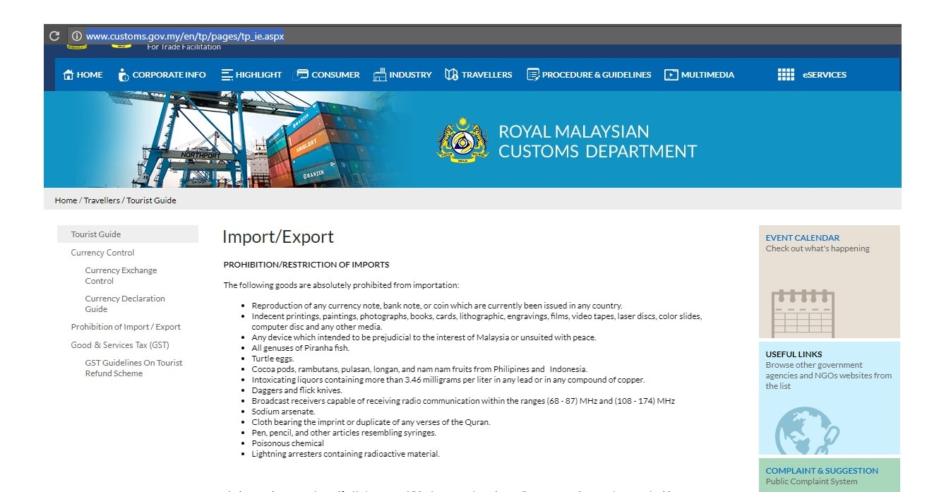 export and import malaysia Many foreign countries have offices set up to specifically assist those who want to  establish an import or export business and malaysia is one of.