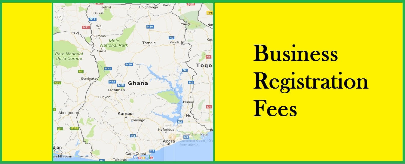 Company registration fees in Ghana