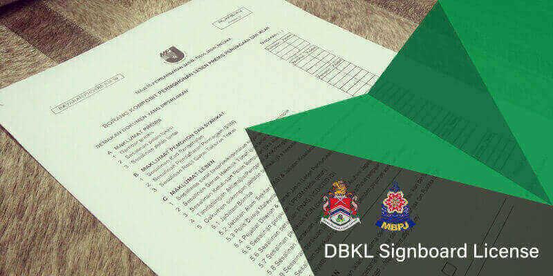dbkl signboard license Malaysia
