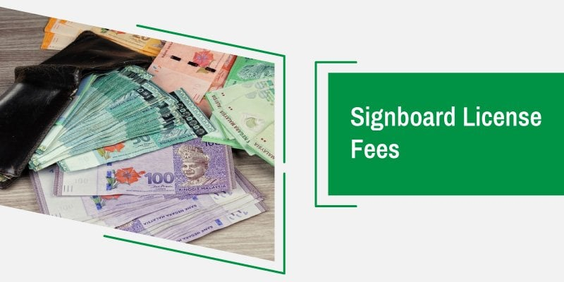 signboard and premise license fees