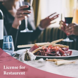 Business license for restaurants, canteen and cafe
