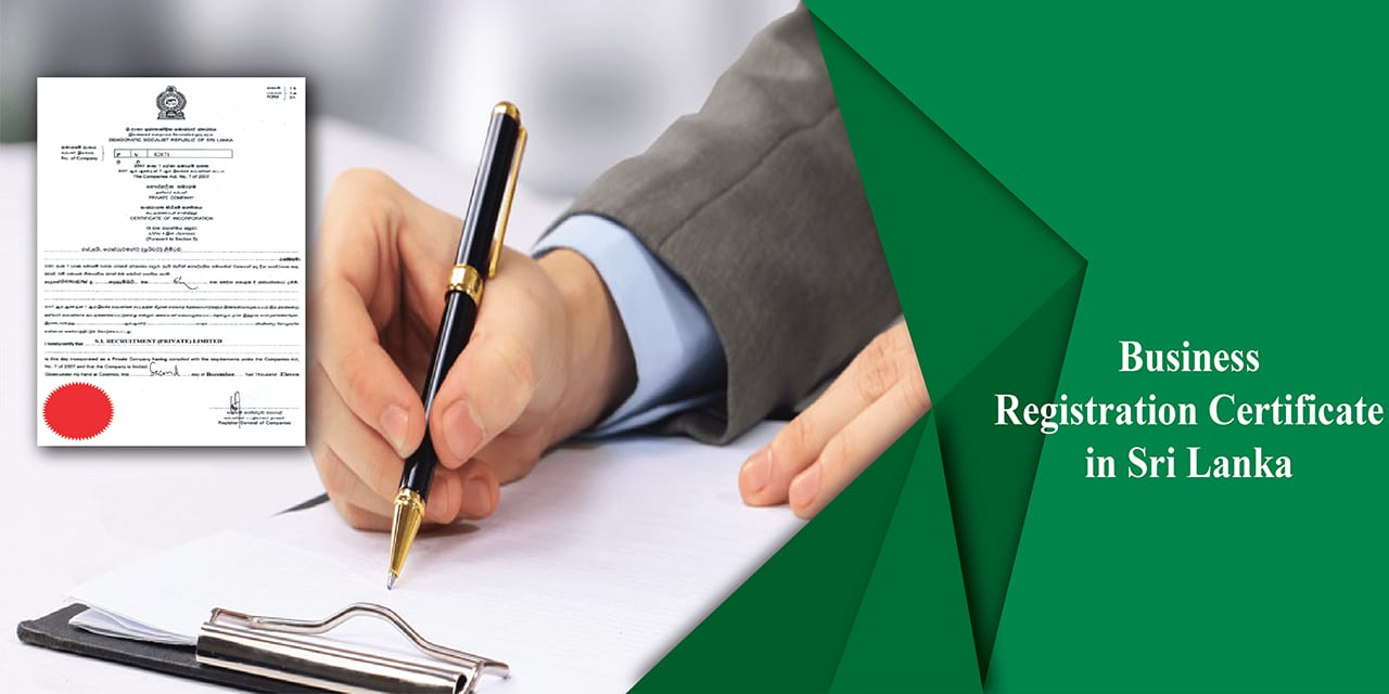 Business registration certificate in Sri Lanka