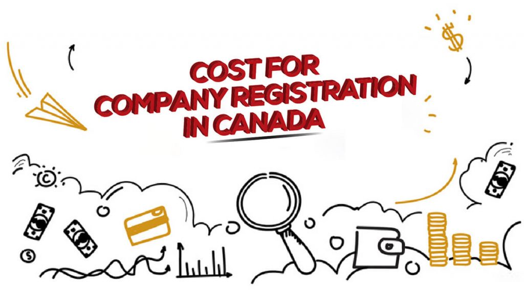 Cost chart for company registration in Canada
