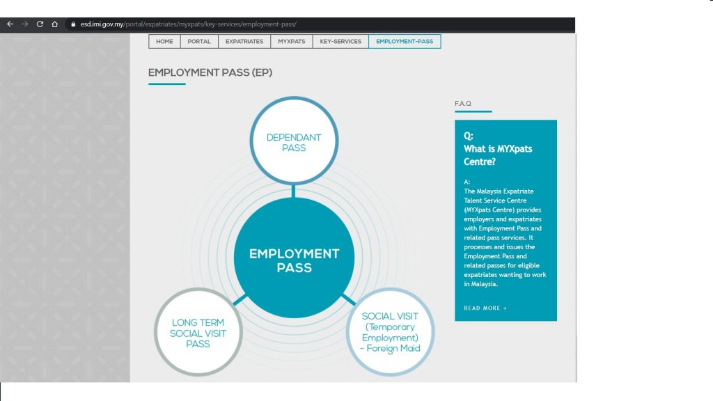 Employment pass by ESD